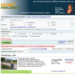 Interholiday vermittelt seit 1997 Ferienhäuser und ist seit 1999 online